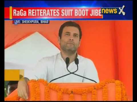 Rahul Gandhi addresses rally in Bihar; says PM Modi changed his attire 16 times in US