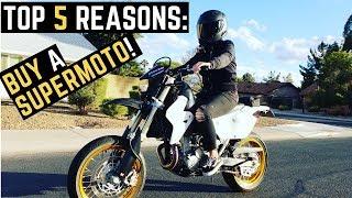 Top 5 Reasons: Why You MUST Buy a SuperMoto Suzuki DRZ400SM Arizona MotoVlog Wheelies Review Ride