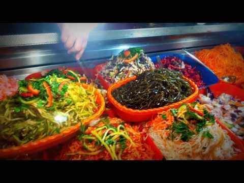 Корейские салаты тети Аси на Зеркальном рынке Айна базар