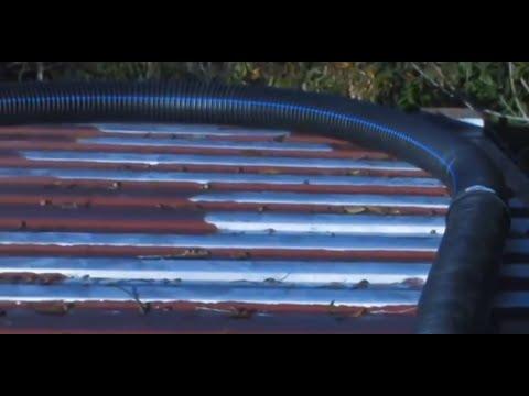 Soda Can Solar Heater 2500 cubic feet alternative forced air heating