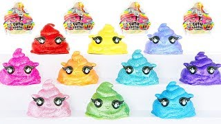 SLIME Poopsie CUTIE Tooties Blind Bags Toy Video with LOL Surprise Dolls   Cutting Open Squishies