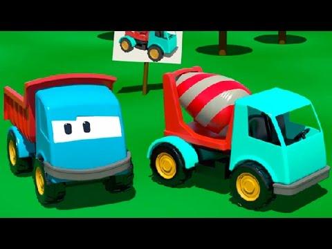Cartoni Animati per Bambini - Leo il camion curioso e la betoniera