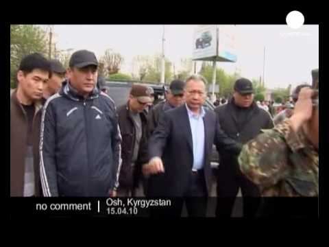 Kyrgyzstan: Bakiyev attends rally