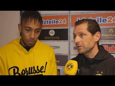Interview: Pierre-Emerick Aubameyang nach dem Spiel bei SC Paderborn | BVB
