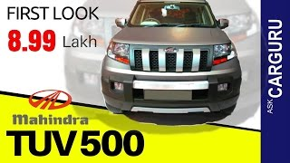 Mahindra TUV 500, CARGURU, हिन्दी में, Engine, Top speed, Crash test, Interior & All Details