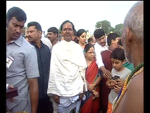 Godavari Pushkaralu | Telangana CM KCR Offered Prayers at Dharmapuri Pushkaralu | Bhakthi TV
