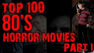 Top 100 Horror Movies of the 80's (Part I)