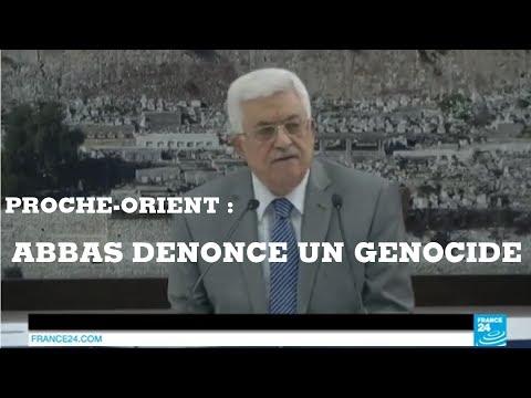 Proche-Orient : Mahmoud Abbas dénonce un génocide contre le peuple palestinien