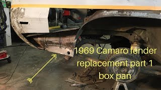 1969 Camaro Rear fender patch and rust repair part 1