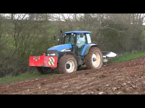 Ploughing the Headlands - New Holland TM 175