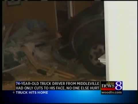 Truck drives into Gaines Twp. house
