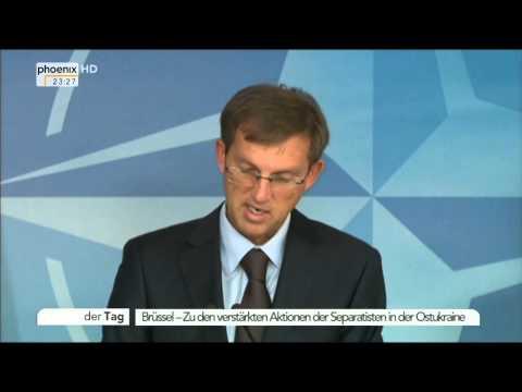 Ukraine-Krise: Jens Stoltenberg & Miro Cerar zu den Separatisten am 11.11.2014