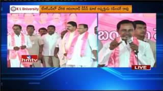 TDP Ex MP Ramesh Rathod Joins TRS Party | CM KCR Speech | HMTV