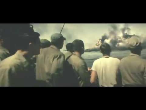Flags Of Our Fathers U.S Battleships bombarding Iwo Jima