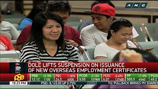 DOLE lifts suspension on overseas employment certificates