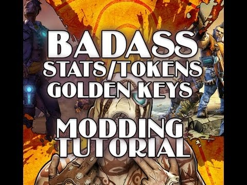 Borderlands 2 - How to Mod BadAss Tokens. Stats. Golden Keys (XBOX 360)