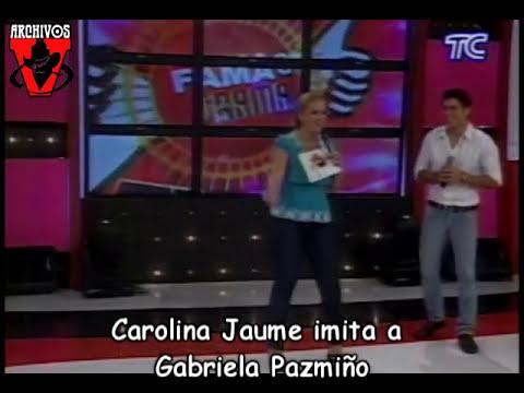 Carolina Jaume imita a Gabriela Pazmiño.mpg