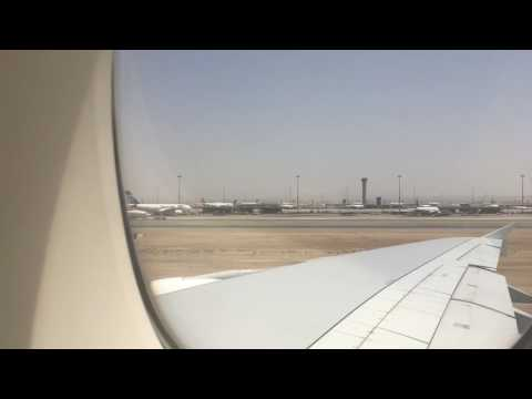 Emirates A-380 Take off from KAIA Jeddah .