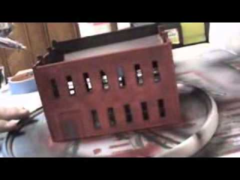 DIY How to Build Scale Model Railroad HO Building - DPM Front Street - Part 5