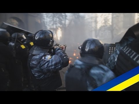 Ukraine protests fighting in Kyiv (18.02.2014)