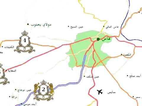 morocco map  maroc خريطة المغرب  ، اول خريطة عربية للمغرب