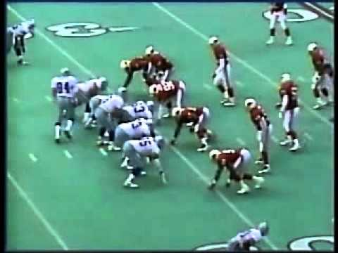 Tackle on Kevin Williams from the 9/24/1995 Arizona Cardinals at Dallas Cowboys game, with John Madden's commentary.