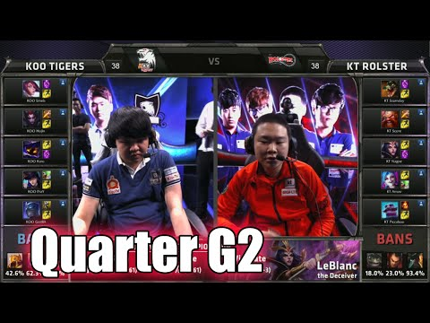 KT Rolster vs KOO Tigers | Game 2 Quarter Finals LoL S5 World Championship 2015 | KT vs KOO G2