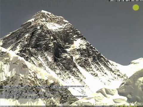 Everest-Dawn till Dusk (Everest Live Webcam grab)