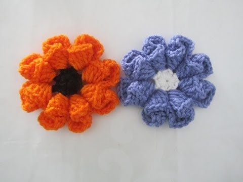 How to Crochet a Flower - Pattern #1 - YouTube