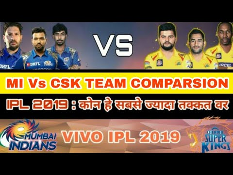 IPL 2019 : MI Vs CSK team Comparison|My honest mi vs CSK team comparison|Mumbai vs chennai IPL 12