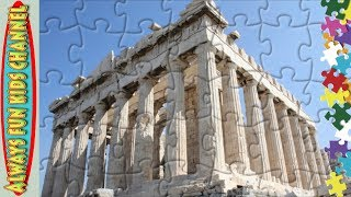 Acropolis of Athens history learning puzzle jigsaw nursery rhymes video for kids