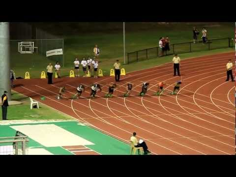 Mens 100m Final - Brisbane Track Classic (Jan 14th, 2012) (HD)