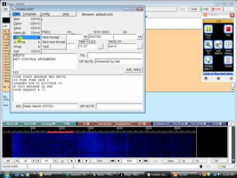 NBEMS / FLMSG NTS ARRL Radiogram