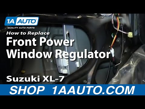 How To Install Replace Front Power Window Regulator 2001-06 Suzuki XL-7 99-05 Grand Vitara