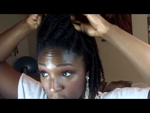 NATURAL HAIR TWO STRAND TWIST UPDO PROTECTIVE STYLE TUTORIA