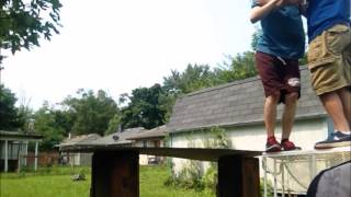(Tables match) WWE backyard wrestling season 1 Episode 4