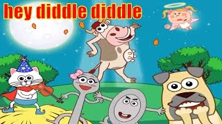 Hey Diddle Diddle Lyrics | Nursery Rhyme with Lyrics and Actions
