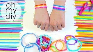 DIY: Drinking Straw Party Bracelet - New Amazing Drinking Straw Crafts and Life Hacks