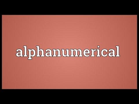 Header of Alphanumerical