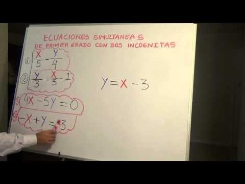ECUACION SIMULTANEA METODO POR ELIMINACION/SOLVING EQUATION SIMULTANEOUS BY ELIMINTATION METHOD