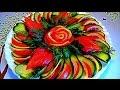 ЛУЧШИЕ ЛАЙФХАКИ! Как красиво нарезать огурцы и помидоры! Украшения тарелки! Много идей!