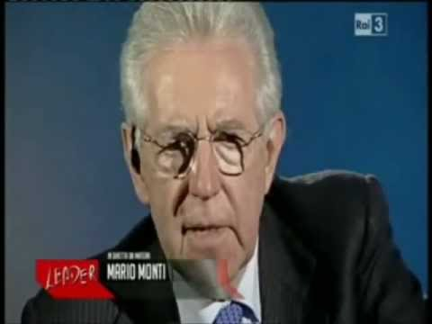 Mario Monti saluta po' sbattuto dopo la domanda di Giacomo Zucco