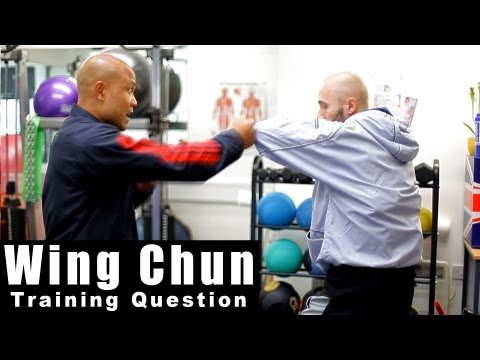 wing chun techniques - how to deal with the chain punch Q14 Image 1