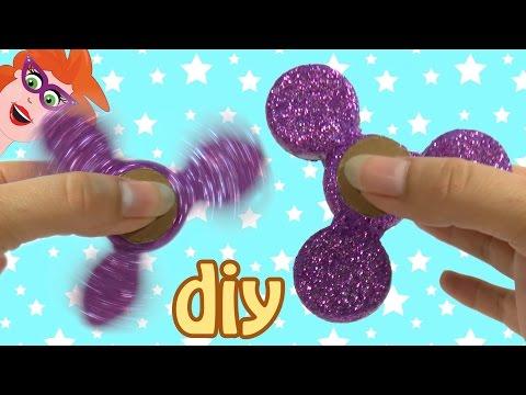 DIY Glitter Spinner Maken - Met Doppen En Muntjes!