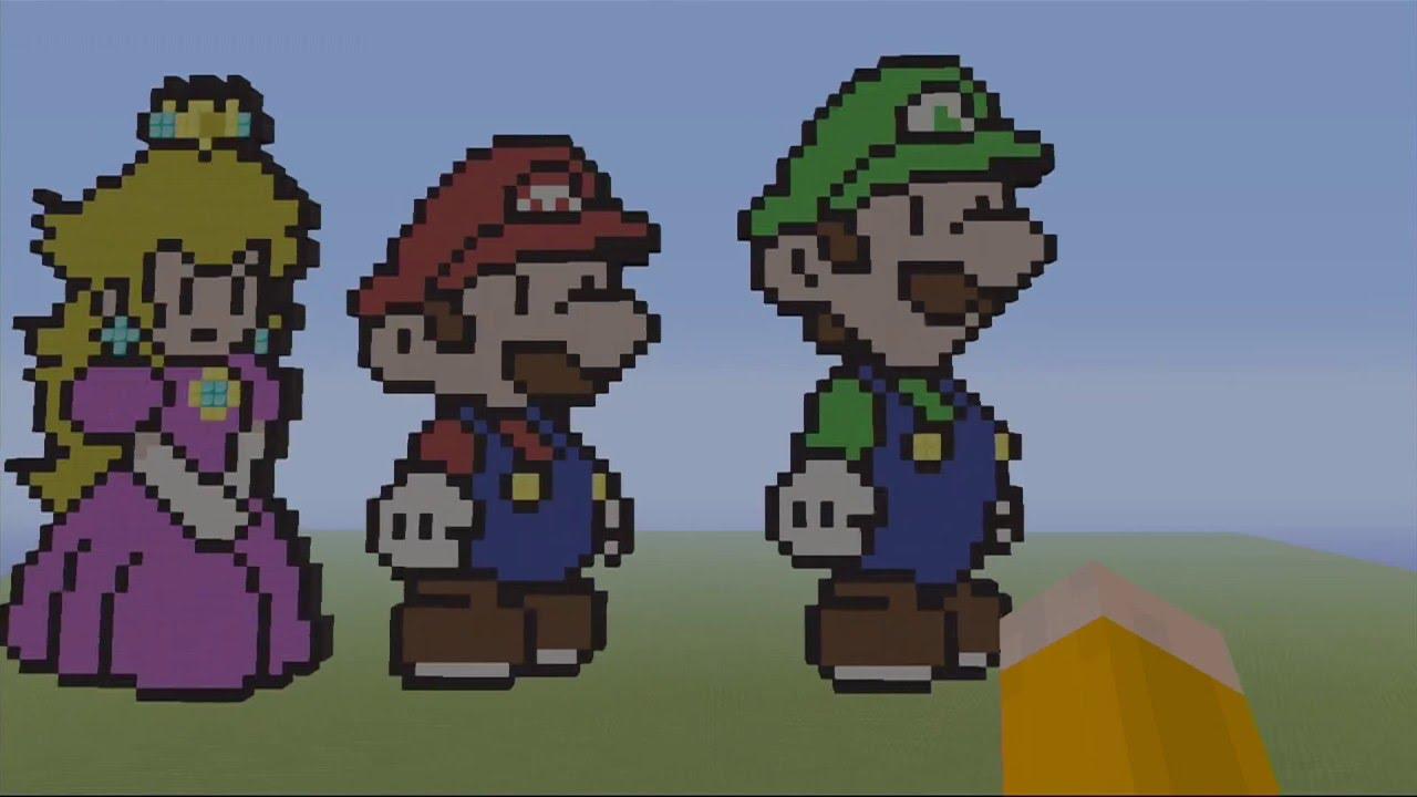 Baby Luigi Pixel Art Pixel Art Luigi Mario Minecraft Diamond Wallpaper 1920x1080