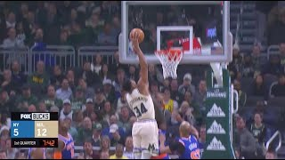Giannis Antetokounmpo Bullies Julius Randle, Finishes With Poster Slam