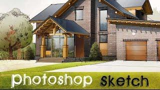 Как построить дом.  Ручная графика и Photoshop