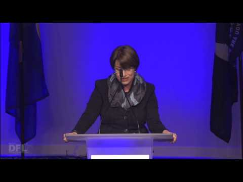 U.S. Sen. Amy Klobuchar welcomes delegates and alternates to the 2014 State Convention in Duluth, Minn.