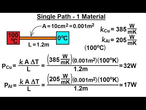 Physics - Thermodynamics: Conduction: Heat Transfer (9 of 20) Single Path - 1 Material
