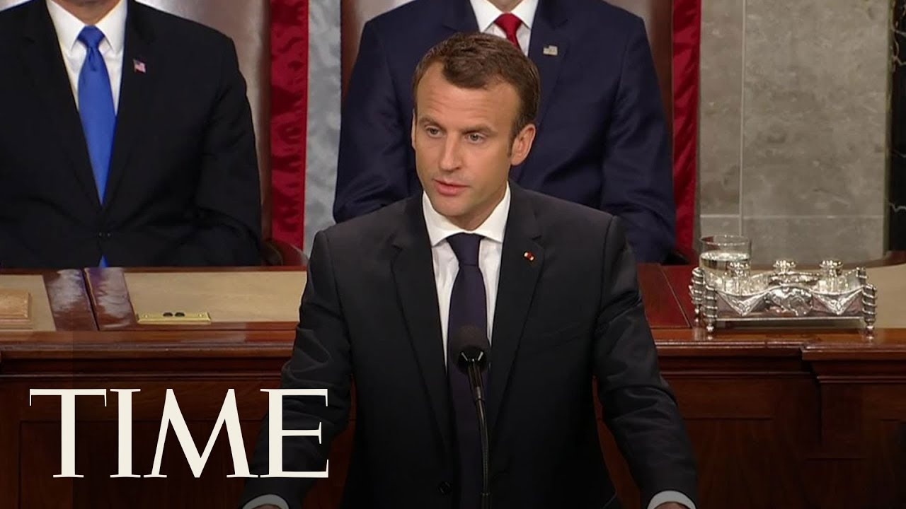 French President Emmanuel Macron Addresses The Joint Session Of US Congress | TIME